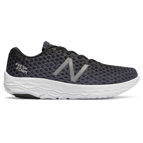 New Balance Fresh Foam Beacon Women's Wide D Running Shoe Black, Magnet WBECNBK