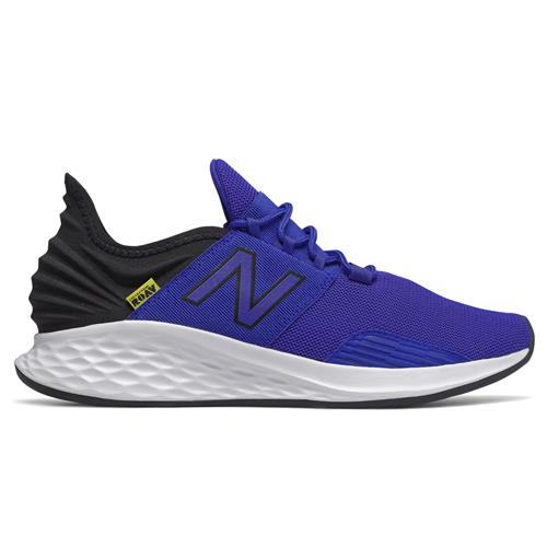 New Balance Fresh Foam Roav Men's Running Shoe UV Blue, Black, Bleached Lime Glo MROAVLM