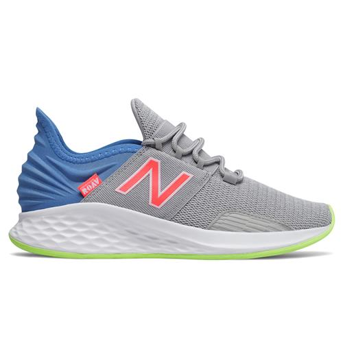 New Balance Fresh Foam Roav Women's Running Shoe Rain Cloud, Light Cobalt, Munsell White WROAVLR