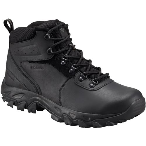 Columbia Newton Ridge Plus II Waterproof Wide 2E Black, Black Men's Hiking Boot 1594732 011