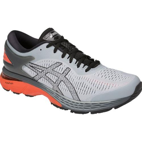 Asics Gel Kayano 25 Men's Running Shoe Mid Grey, Nova Orange 1011A019 022