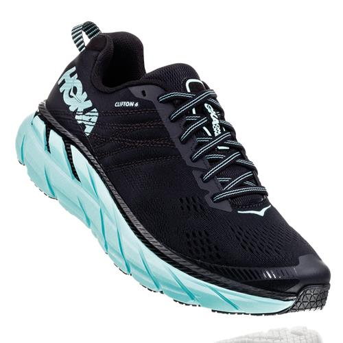 Hoka One One Clifton 6 Women's Black, Aqua Sky 1102873 BASY