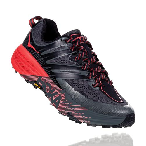 Hoka One One Speedgoat 3 Women's Trail Dark Shadow, Poppy Red 1099734 DSPRD