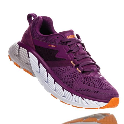 Hoka One One Gaviota 2 Women's Wide D Grape Juice, Bright Marigold 1099718 GJBM
