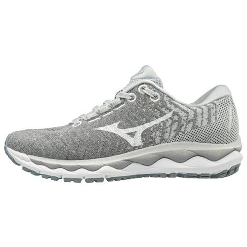 Mizuno Wave Sky Waveknit 3 Women's Wide D Running Glacier Gray, White 411109.9A00