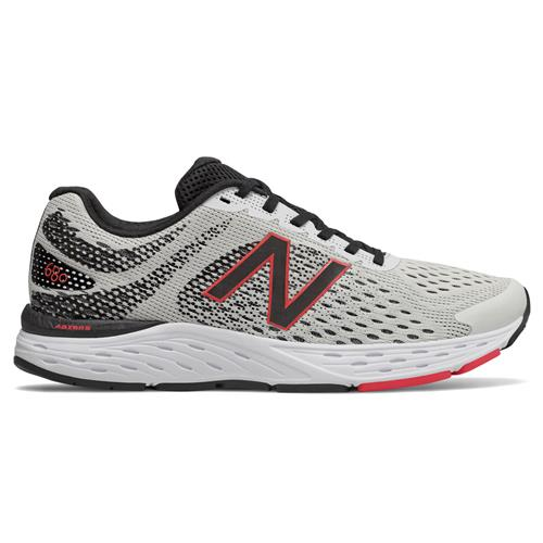 New Balance 680v6 Wide 4E Men's White,Black, Energy Red M680CR6