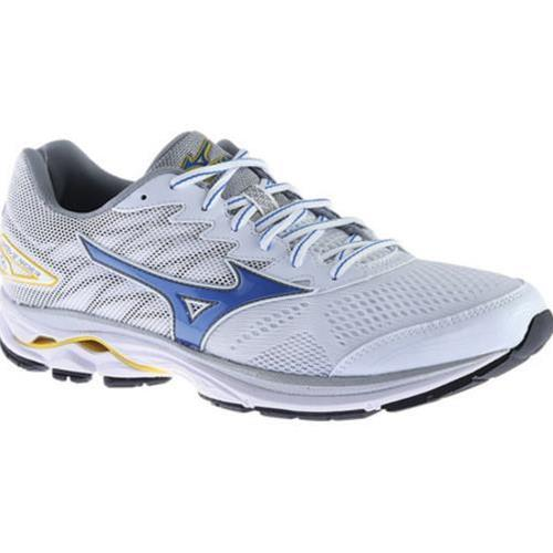 Mizuno Wave Rider 20 Men's Running White, Strong Blue, Cyber Yellow 410865.007S