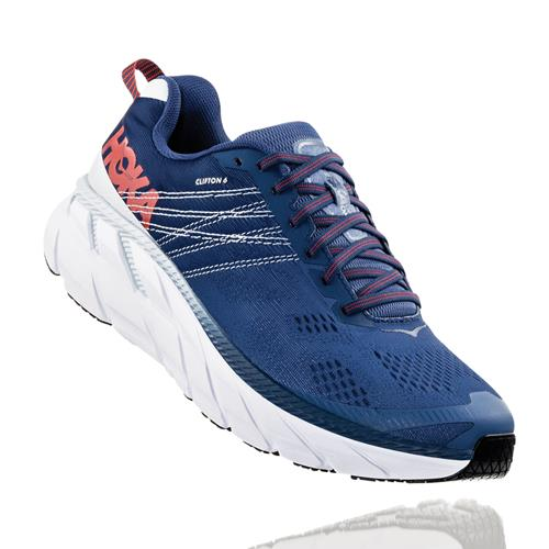 Hoka One One Clifton 6 Men's Wide EE Ensign Blue, Plein Air 1102876 EBPA