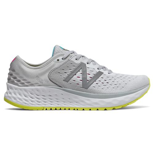 New Balance Fresh Foam 1080v9 Women's Running Shoe Light Aluminum, Silver, Sulphur Yellow W1080SO9