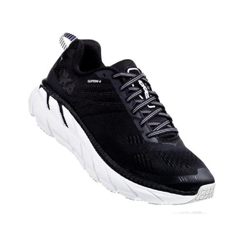 Hoka One One Clifton 6 Women's Wide D Black, White 1102877 BWHT
