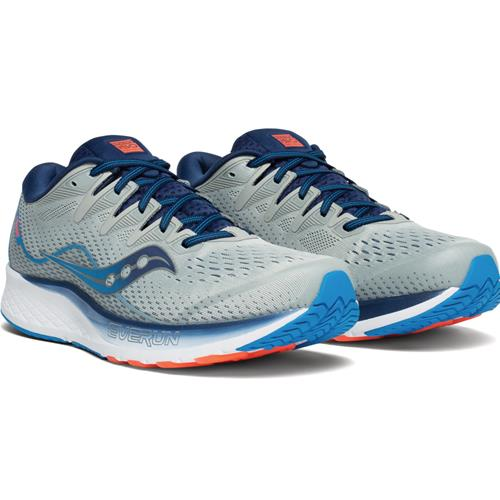 Saucony Ride ISO 2 Men's Wide EE Running Grey, Blue S20515-1