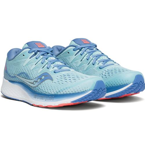 Saucony Ride ISO 2 Women's Running Wide D Blue, Coral S10515-1