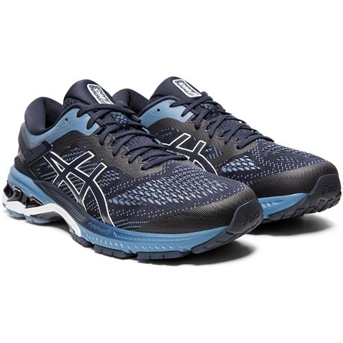 Asics Gel Kayano 26 Men's Running Shoe Midnight, Grey Floss 1011A541 400