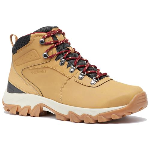 Columbia Newton Ridge Plus II Waterproof Curry, Red Jasper Men's Hiking Boot 1594731 373