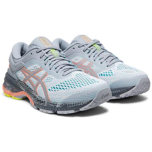 Asics Gel Kayano 26 LS Women's Running Shoe Piedmont Grey, Sun Coral 1012A536 020