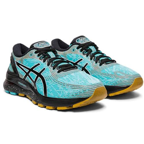 Asics Gel Nimbus 21 Winterized Women's Running Shoe Ice Mint, Black 1012A541 400