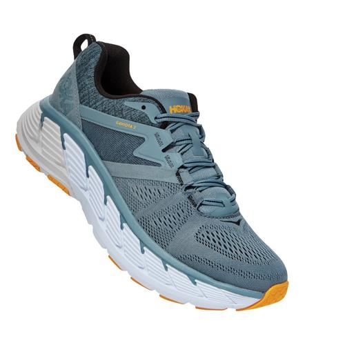 Hoka One One Gaviota 2 Men's Wide EE Lead, Antratice 1099717 LATH