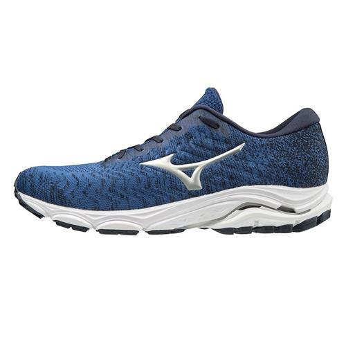 Mizuno Wave Inspire 16 Waveknit Men's Running Shoes Skydiver-Silver 411170.SD73