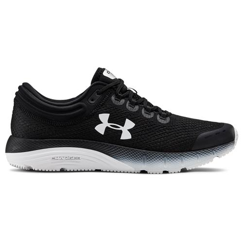Under Armour Charged Bandit 5 Mens Running Shoe in Black, White 3021947-001