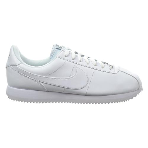 Nike Cortez Basic Leather Men's Casual Shoe White, White 819719-110