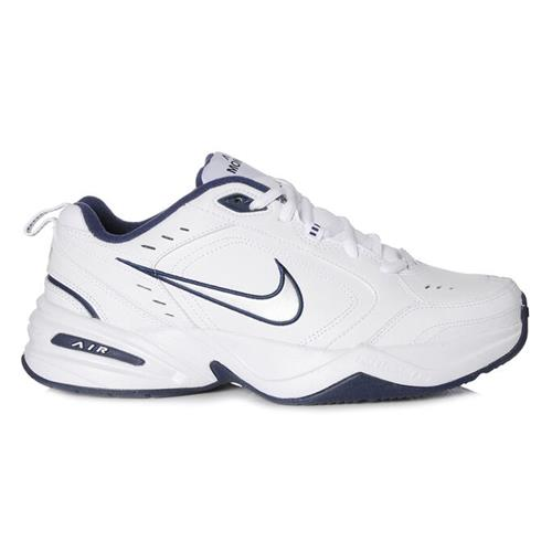 Nike Air Monarch IV Wide 4E Training Shoes White, Navy 416355-102