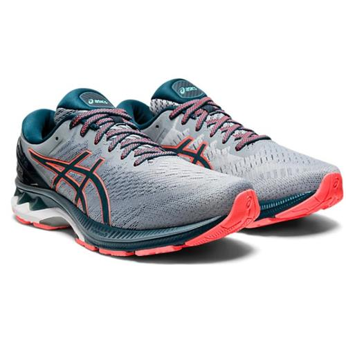 Asics Gel Kayano 27 Men's Wide 4E Running Shoe Sheet Rock, Magnetic Blue 1011A833 021