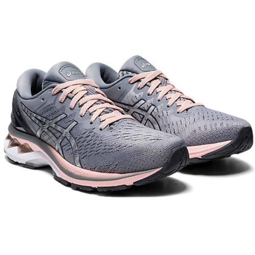 Asics Gel Kayano 27 Women's Running Wide D Sheet Rock, Pure Silver 1012A713 020