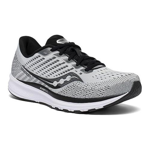 Saucony Ride 13 Men's Running Wide D Alloy, Black S20580-40