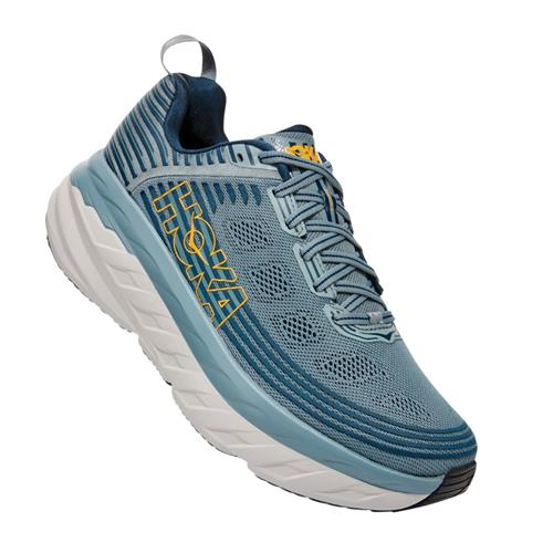 Hoka One One Bondi 6 Men's Wide EE Lead, Majolica Blue 1019271 LMCB