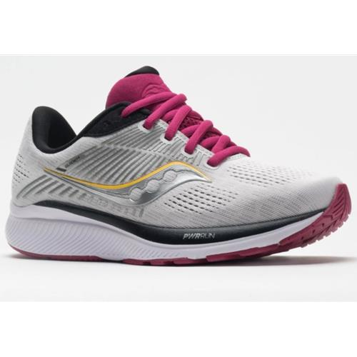 Saucony Guide 14 Women's Running Wide D Alloy, Cherry S10655-55