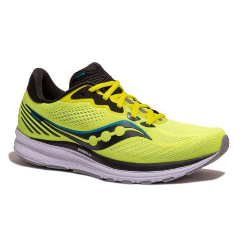 Saucony Ride 14 Men's Running Citrus, Black S20650-55