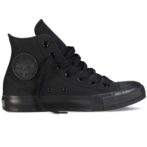 Converse Chuck Taylor All Star Monochrome Hi Canvas, Black M3310