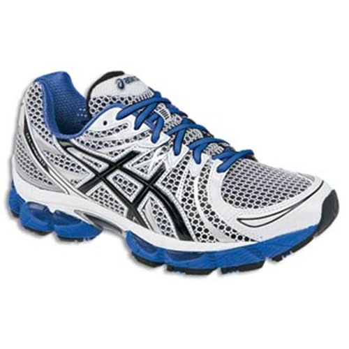 Asics GEL Nimbus 13 Men's Running Shoe White, Black, Royal  T142N 0190