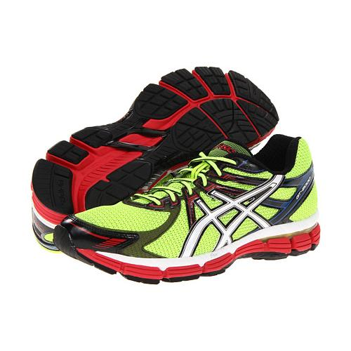 Asics GT-2000 Men's Running Shoe Lime, White, Red T2K2N 0501