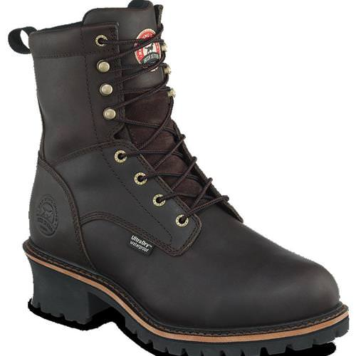 Irish Setter Brand by Red Wing 8 inch Logger in Dark Brown Pueblo Leather 83809