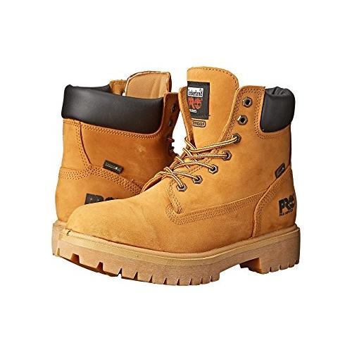 Timberland #65030 Pro Men's Boot Waterproof 6 Inch 200G Soft Toe Wide EE Wheat 65030