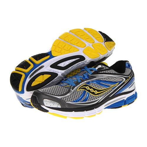 Saucony ProGrid Omni 12 Men's Running Wide EE Gray, Blue, Yellow 20207-2