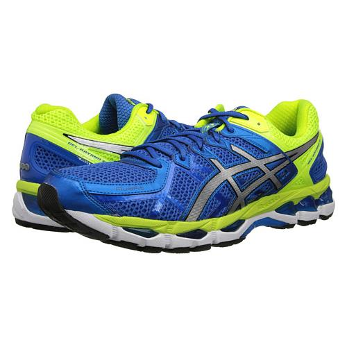 Asics Gel Kayano 21 Men's Running Shoe Royal, Lightning, Flash Yellow T4H2N 5991