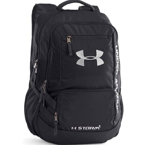 Under Armour Hustle Backpack Black/Black/Silver 1256953-001