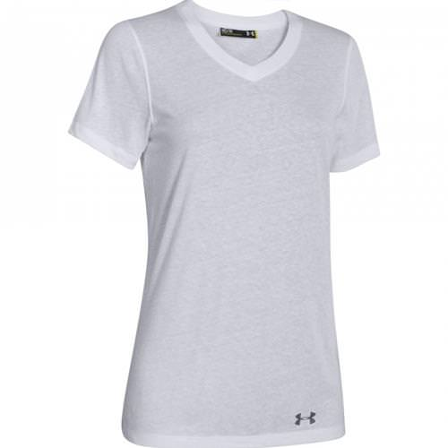 Under Armour Locker Women's Stadium V-Neck Tee Short Sleeve Black, White 1258824-001