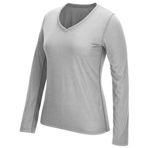 Adidas Women's Ultimate Long Sleeve V-Neck Medium Grey Heather 4876-DCF