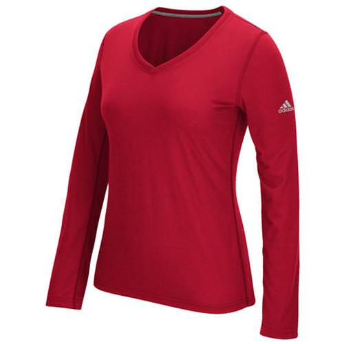Adidas Women's Ultimate Long Sleeve V-Neck Power Red 4876-URD