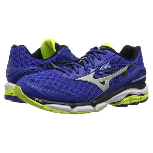 Mizuno Wave Inspire 12 Men's Running Shoes Surf the Web, Silver, Safety Yellow 410743.5E73
