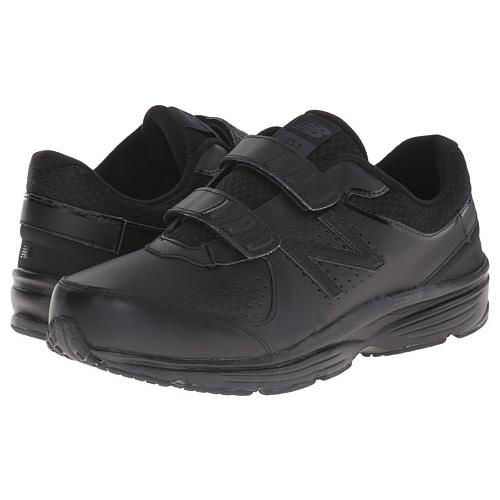 New Balance MW411v2 Men's Hook-and-Loop Walking Shoe D Medium Black MW411HK2