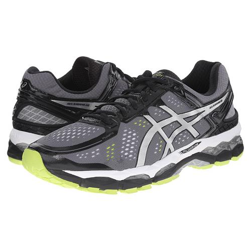 Asics Gel Kayano 22 Men's Running Shoe Charcoal, Silver, Lime T547N 7393