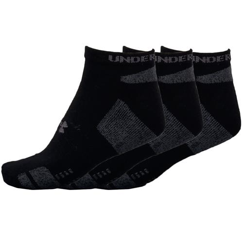 Under Armour HeatGear 3-Pack No-Show Socks Black/White 1250408-002