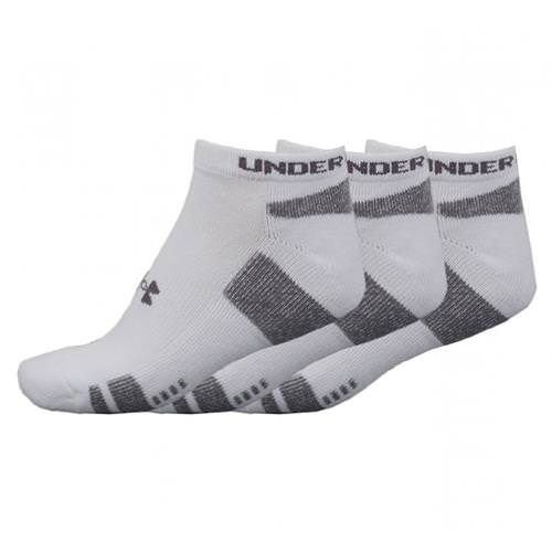 Under Armour HeatGear 3-Pack No-Show Socks White/Black 1250408-100