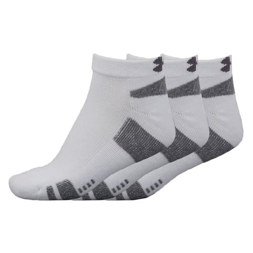 Under Armour HeatGear 3-Pack No-Show Socks White/Black 1250410-100