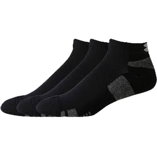 Under Armour HeatGear 3-Pack No-Show Socks Black/White 1250410-002