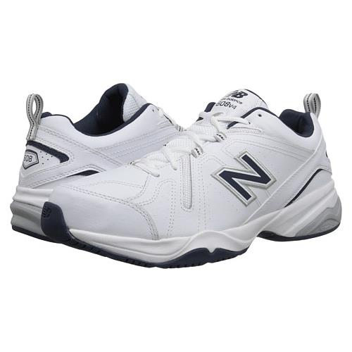 New Balance 608v4 Men's White & Navy Cross Trainer Regular MX608V4W